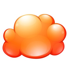 Orange cloud on white vector image