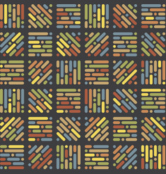original retro yet modern patterns vector image