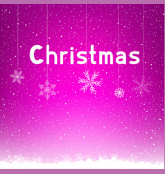 pink winter christmas background snowflake vector image