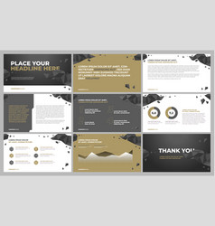 presentation template design vector image