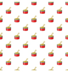 Red drum and drumsticks pattern cartoon style vector