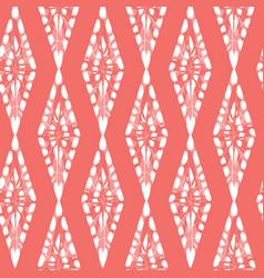 Red shibori monochrome vertical diamonds vector