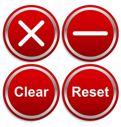 removal buttons vector image