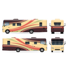 Rv template side front back view vector