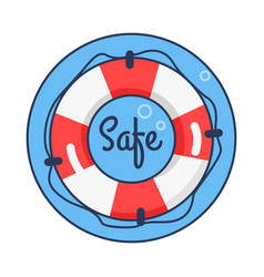 Safe lifebuoy rounded icon vector