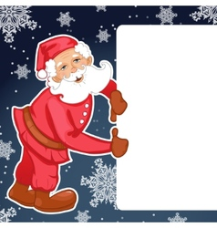 Santa Claus with Christmas greetings eps10 vector image vector image