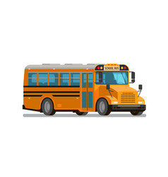 School bus flat style vector