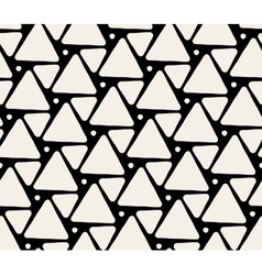Seamless Black And White Triangle Pattern vector image