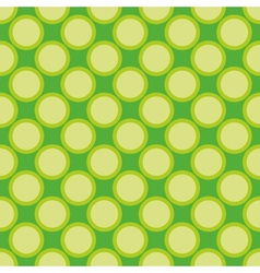 Seamless pattern green polka dots background vector