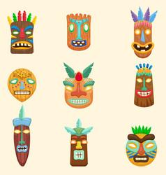 Set african zulu mexican indian inca or vector