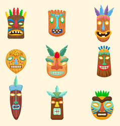 set of african zulu mexican indian inca or vector image