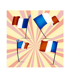 set of flags of france vector image