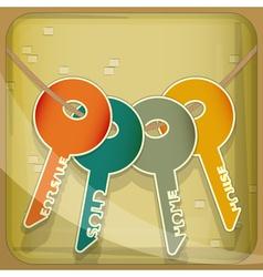 Set of House Keys vector image