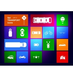 Set of transport icons navigator vector image