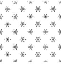 six petal flower pattern seamless vector image