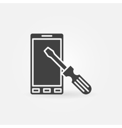 Smart-phone repair icon vector image
