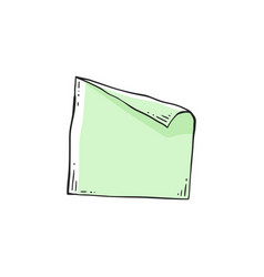 Square blue note paper blank sheet sketch doodle vector