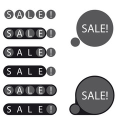 Stickers sale label vector