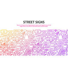 street signs concept vector image
