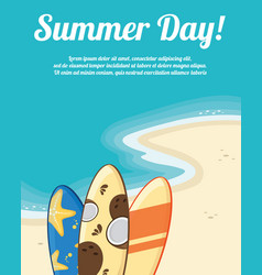 summer holiday concept night party vector image