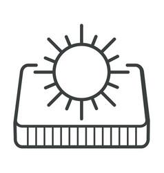 Summer side orthopedic mattress sun symbol vector