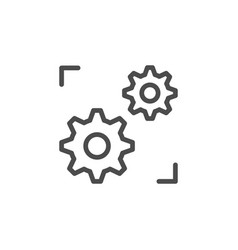 Support system line outline icon vector