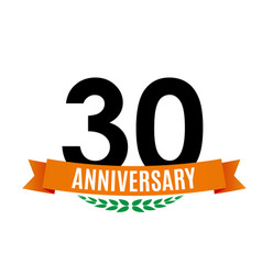 Template 30 years anniversary background with vector