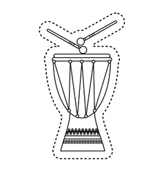Timbal tropical instrument icon vector