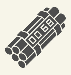 Time bomb solid icon dynamite vector