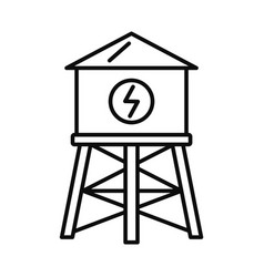 water save tower icon outline style vector image