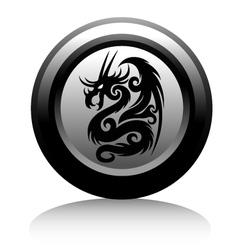 web icon with black dragon vector image