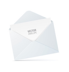 white envelope isolated on background vector image