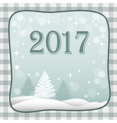 banner new year 2017 vector image vector image