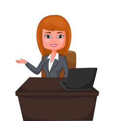 Business woman presenting vector