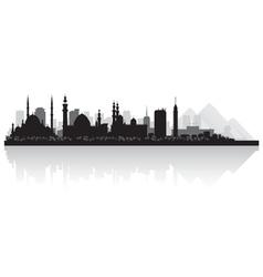 Cairo egypt city skyline silhouette vector