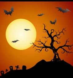 creepy tree vector image vector image