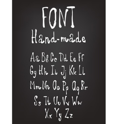 Hand-drawn font Calligraphy alphabet vector image