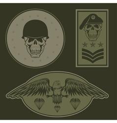 Special unit military emblem set design template vector image vector image
