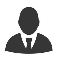 user profile flat icon vector image vector image