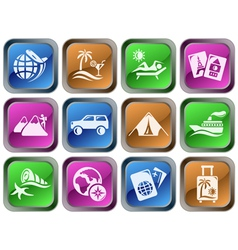 Vacations buttons vector image