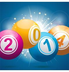 2014 bingo lottery balls vector image vector image