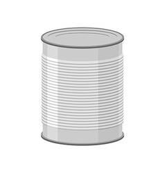 Cans for canned food on white background Tin vector image