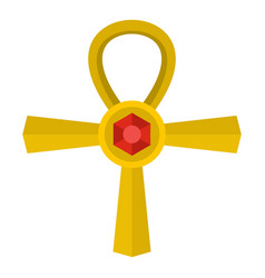 golden ankh symbol icon isolated vector image vector image
