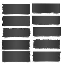 Ten black notes paper vector image vector image