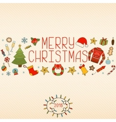 Christmas decorations Hand drawn elements vector image vector image