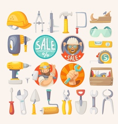 Collection of tools for house remodeling vector image vector image
