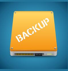 Portable Data Backup Hard Disc Drive Icon vector image