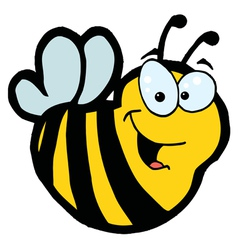 Smiling Bee vector image