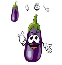 Smiling purple eggplant vegetable vector image