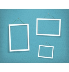 White frames on the textured wall vector image vector image